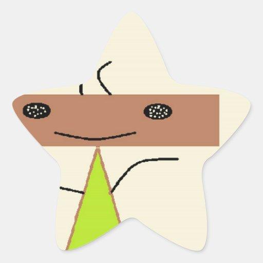 El feliz pegatina en forma de estrella