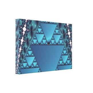 El femenino en fractal azul lienzo envuelto para galerias