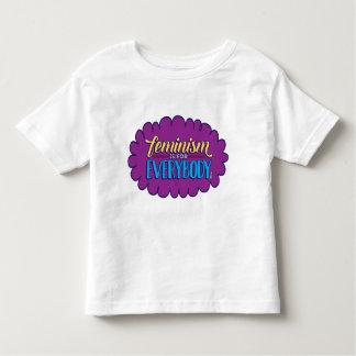 El feminismo es para todos camiseta del niño playera