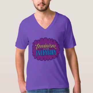 El feminismo es para todos cuello en v púrpura playera