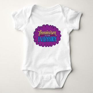 El feminismo es para todos ropa del bebé playeras