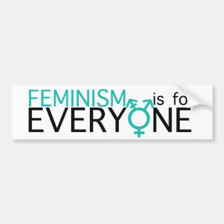¡El feminismo está para cada uno! Pegatina De Parachoque