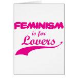 El feminismo está para el rosa de los amantes tarjetas