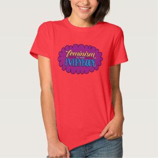 El feminismo está para todos cupo la camiseta roja playeras