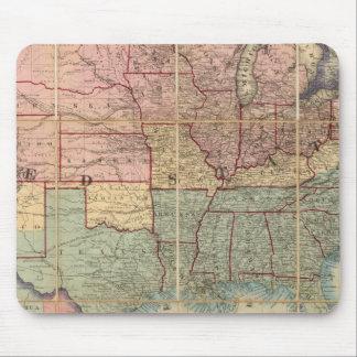 El ferrocarril de Colton y mapa de los militares Alfombrillas De Ratón