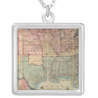 El ferrocarril de Colton y mapa de los militares Collares Personalizados