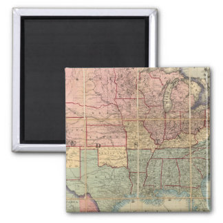 El ferrocarril de Colton y mapa de los militares Imán