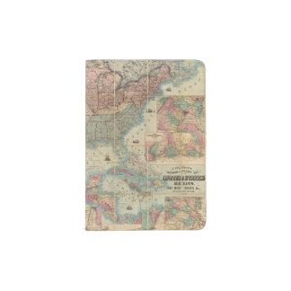 El ferrocarril de Colton y mapa de los militares Porta Pasaporte