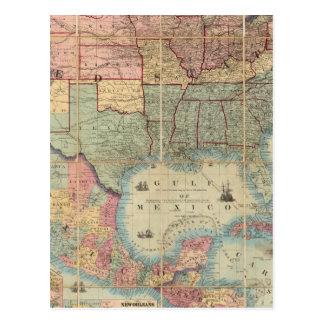 El ferrocarril de Colton y mapa de los militares Postal