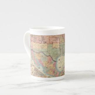 El ferrocarril de Colton y mapa de los militares Taza De Porcelana