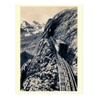 El ferrocarril de estante más escarpado de la mont postal