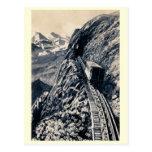 El ferrocarril de estante más escarpado de la tarjetas postales