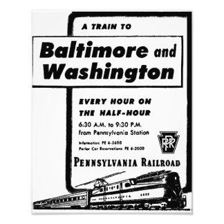 El ferrocarril de Pennsylvania entrena cada hora a Impresion Fotografica