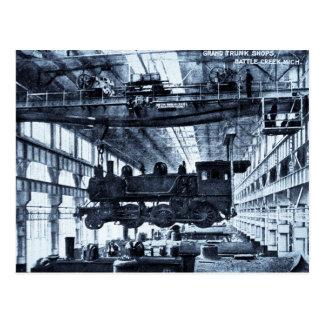 El ferrocarril magnífico del tronco hace compras tarjetas postales