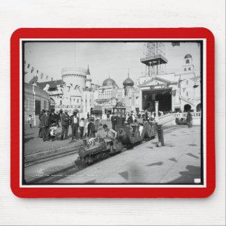 El ferrocarril miniatura, Coney Island, N.Y. c1905 Alfombrillas De Raton