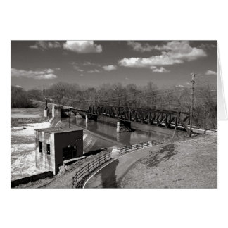 El ferrocarril occidental de la bifurcación de tarjeta de felicitación