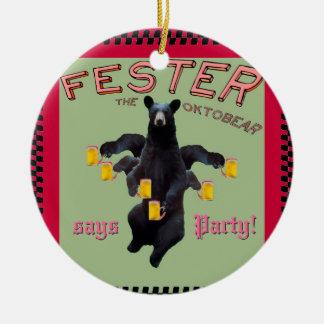 ¡El Fester dice Felices Navidad! ¡y fiesta! Ornato