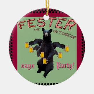¡El Fester dice Feliz Año Nuevo y al fiesta! Adorno De Navidad