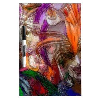 El festival abstracto inspiró arte pizarra blanca