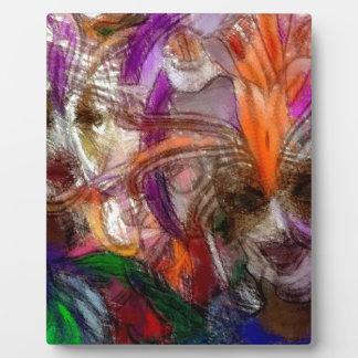 El festival abstracto inspiró arte placa de plastico