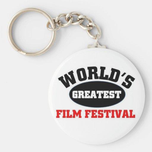El festival de cine más grande llavero redondo tipo pin