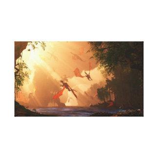 El festival de dragones envolvió la lona impresiones en lienzo estiradas