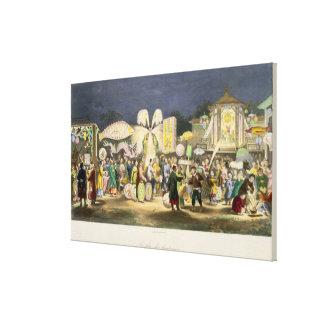 El festival de las linternas, pub. por Formentin,  Impresión En Tela