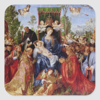 El festival del rosario, 1506 pegatina cuadrada