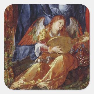 El festival del rosario pegatina cuadradas