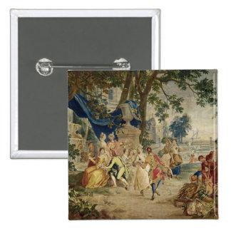 El Fete del pueblo después de D.Teniers Pin Cuadrado