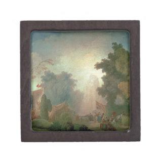 El Fete en la Santo-Nube (aceite en lona) (para el Caja De Joyas De Calidad
