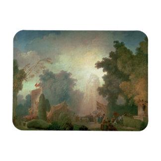 El Fete en la Santo-Nube (aceite en lona) (para el Imán