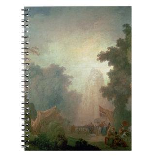 El Fete en la Santo-Nube (aceite en lona) (para el Libro De Apuntes Con Espiral