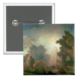 El Fete en la Santo-Nube (aceite en lona) (para el Pin Cuadrado
