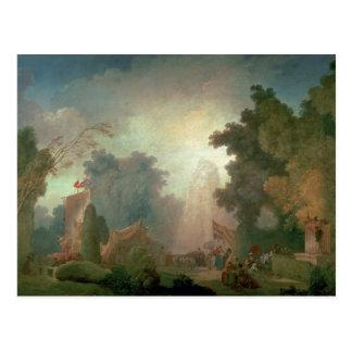 El Fete en la Santo-Nube (aceite en lona) (para el Postal