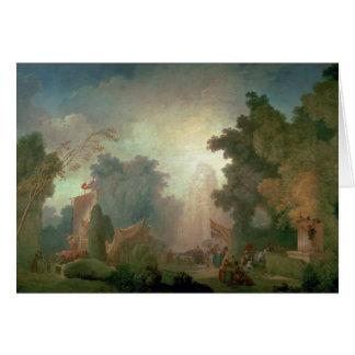 El Fete en la Santo-Nube (aceite en lona) (para el Tarjetón