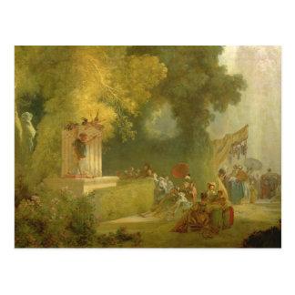 El Fete en la Santo-Nube, detalle del espectáculo Postal