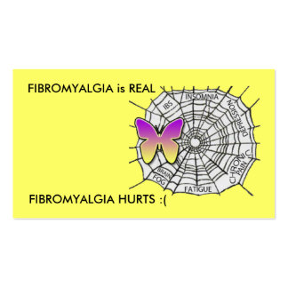 El FIBROMYALGIA es REAL Tarjetas De Visita