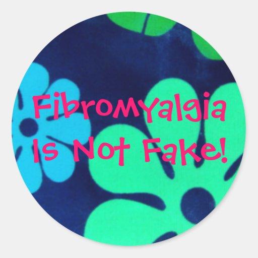 ¡El Fibromyalgia no es falso! - Pegatinas Pegatina Redonda