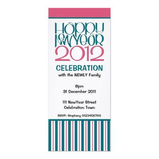 El fiesta 2012 del arándano del trullo de la Feliz Invitación 10,1 X 23,5 Cm