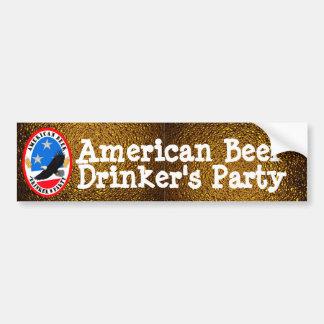 El fiesta americano del bebedor de cerveza pegatina para auto