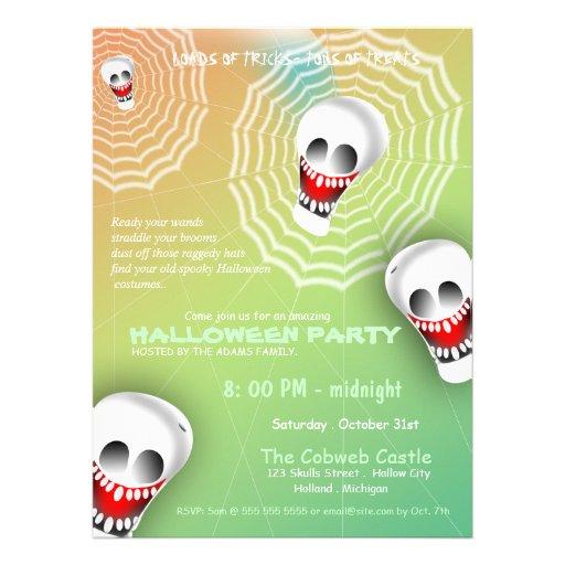 El fiesta asustadizo de Halloween de los cráneos d Anuncios