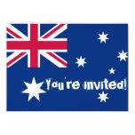 """El fiesta australiano de la bandera invita invitación 4.5"""" x 6.25"""""""