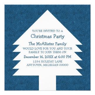 El fiesta azul de los remolinos del árbol de navid comunicados personalizados