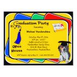 El fiesta azul el gruñidor de la graduación del anuncio personalizado