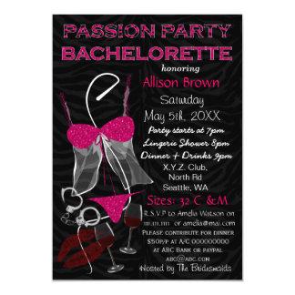 """El fiesta Bachelorette, ducha de la pasión de la Invitación 5"""" X 7"""""""