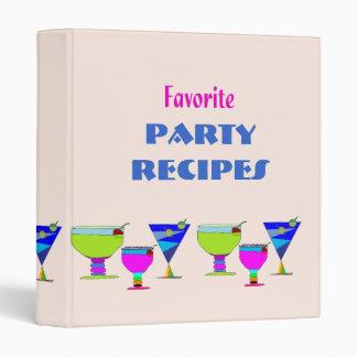 El fiesta bebe la carpeta de las recetas carpeta 2,5 cm