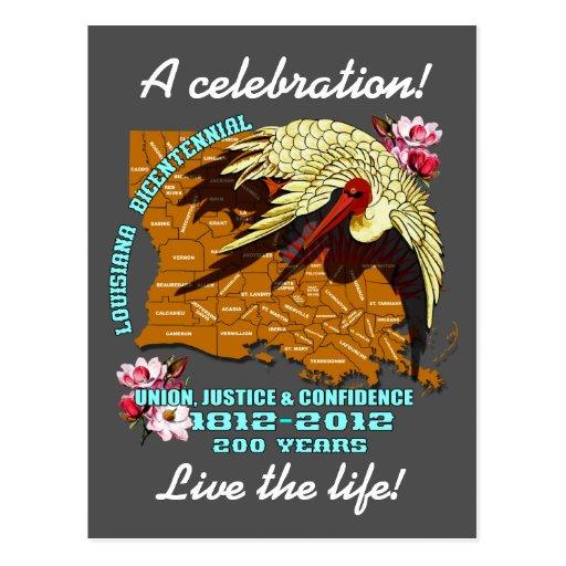 El fiesta bicentenario de Luisiana del carnaval Tarjeta Postal
