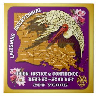 El fiesta bicentenario del carnaval de Luisiana Azulejo Cuadrado Grande