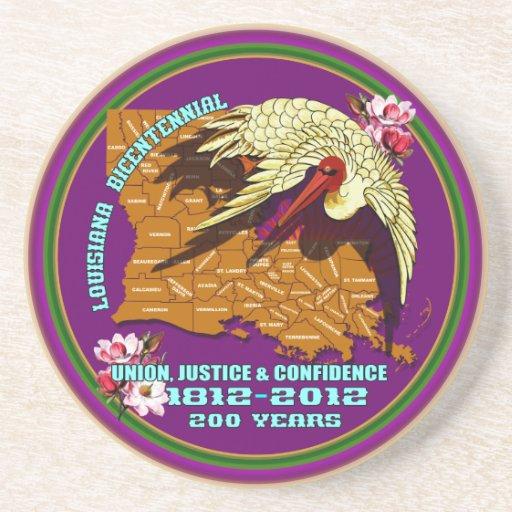 El fiesta bicentenario del carnaval de Luisiana co Posavasos Personalizados